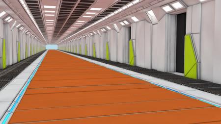 futuristic interior: Futuristic architecture interior