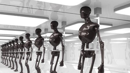 Robots futuristas Foto de archivo