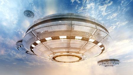 ufos: UFOS and blue sky