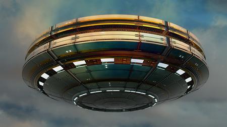 UFO alien Stock Photo - 33899095