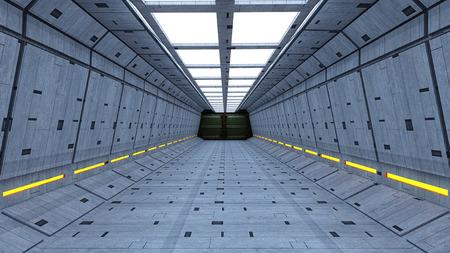 scifi: Futuristic SCIFI corridor Stock Photo