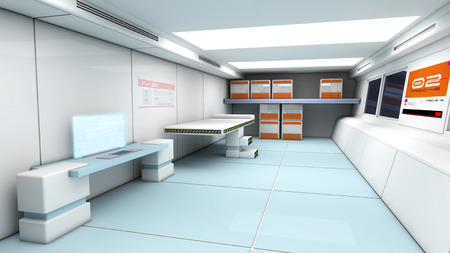 Futuristic SCIFI interior photo
