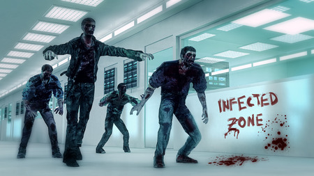 silhouettes: Zombies infected zone