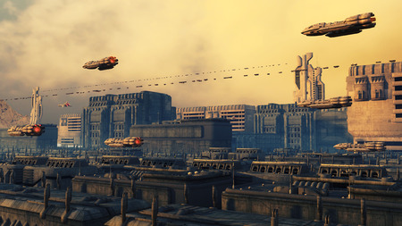 SCIFI city and ships