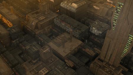 futuristic city: Futuristic cinematic city