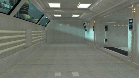 scifi: Futuristic interior SCIFI