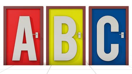 indecision: Doors ABC election Stock Photo