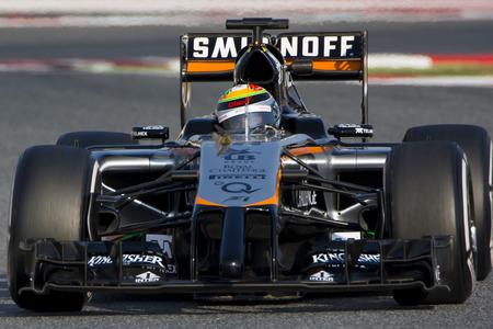 sergio: Driver Sergio Perez Team Sahara Force India F1.