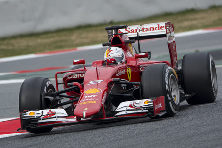 Driver Sebastian Vettel Team Ferrari  F1.