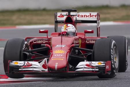 vettel: Driver Sebastian Vettel Team Ferrari  F1.