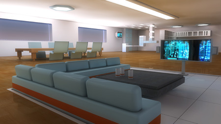 scifi: Futuristic Scifi interior architecture