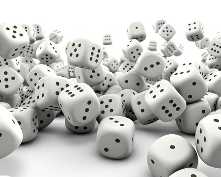 Falling gaming dice 写真素材