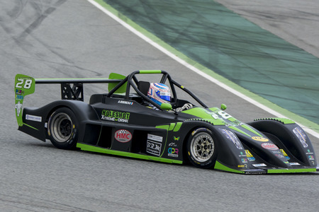 lien: Driver ROBINEAU Aur�lien. Team HMC LOHEAC.  V de V Endurance Series at Circuit de Barcelona. Montmelo, Spain. March 22, 2015 Editorial