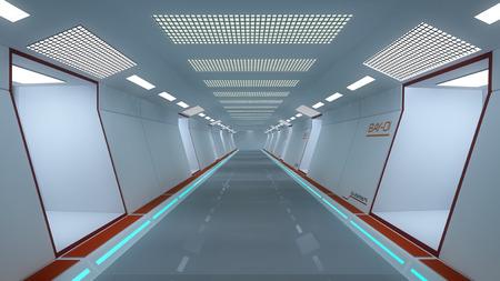 futuristic interior: Futuristic Scifi interior architecture