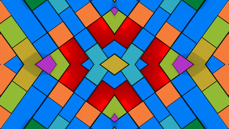 Abstract symmetry and colors