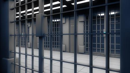 3d interior jail 写真素材