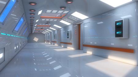 futuristic interior: Futuristic interior architecture Stock Photo