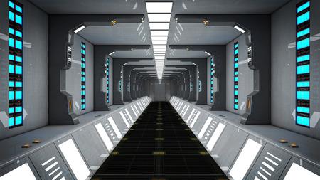 Futuristic SCIFI corridor Archivio Fotografico