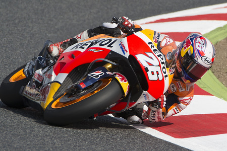 dani: Driver Dani Pedrosa. Repsol Honda Team. Monster Energy Grand Prix of Catalunya MotoGP. Barcelona Spain  June13 2015