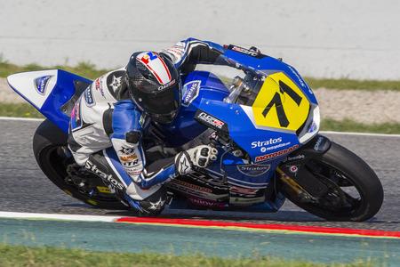 cev: Maximilian Scheib. Team Stratos. FIM CEV Repsol International Championship. Barcelona Spain  June 20 2015 Editorial