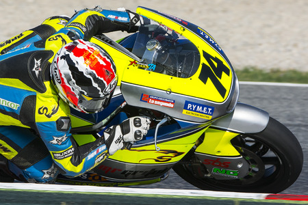 cev: Andres Gonzalez. Team MR Griful. FIM CEV Repsol International Championship. Barcelona Spain  June 20 2015 Editorial