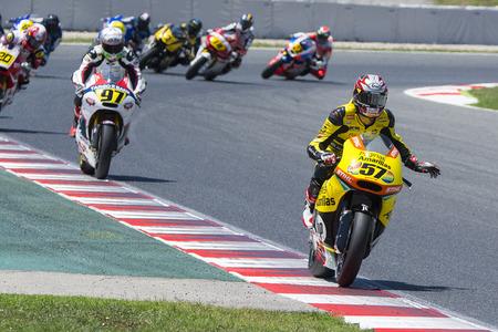 pons: Edgar Pons. Moto2. Paginas Amarillas Team. FIM CEV Repsol International Championship. Barcelona Spain  June 20 2015 Editorial