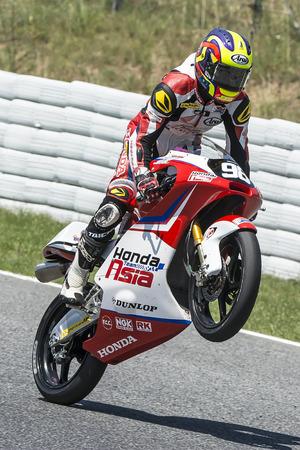 repsol honda: Khairul Idham. Moto3. Honda Team Asia. FIM CEV Repsol International Championship. Barcelona Spain  June 20 2015