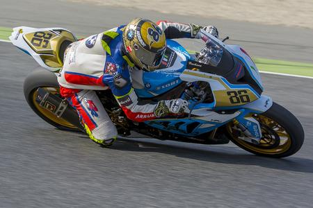 gomez: Driver Borja Gomez. BMW S1000RR. Mediterranean Motorcycling Championships. Barcelona, Spain - July 19, 2015