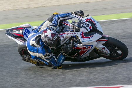 rui: Driver Rui Marto. BMW S1000RR. Mediterranean Motorcycling Championships. Barcelona, Spain - July 19, 2015