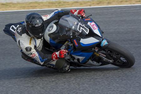 ruiz: Driver Juan Manuel Ruiz. BMW S1000RR. Mediterranean Motorcycling Championships. Barcelona, Spain - July 19, 2015