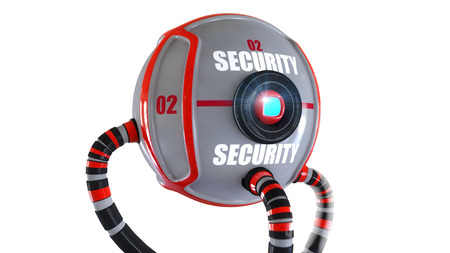 jailhouse: Security robots Stock Photo