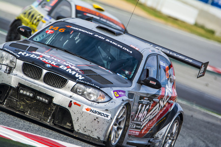 motorsport: Saxon Motorsport Team. BMW 135D. 24 hours of Barcelona. Trophy Fermí Vélez. Montmelo, Spain. September 06, 2015