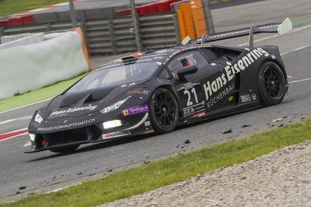 motorsport: Sportec Motorsport Team. Lamborghini Huracan. 24 hours of Barcelona. Trophy Fermí Vélez. Montmelo, Spain. September 06, 2015