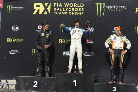 fia: Andrea Dubourg  winner.  Barcelona FIA World Rallycross Championship. Montmelo, Spain. September 19, 2015 Editorial