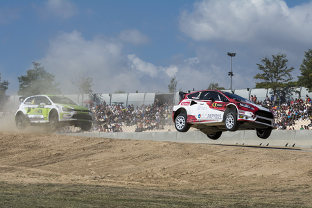 fia: Manfred STOHL. Ford Fiesta. Barcelona FIA World Rallycross Championship. Montmelo, Spain. September 20, 2015