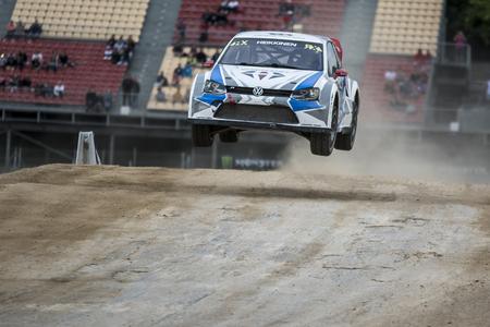 fia: Toomas HEIKKINEN. Volkswagen Polo. Barcelona FIA World Rallycross Championship. Montmelo, Spain. September 20, 2015