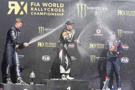 fia: Petter SOLBERG winner.  Barcelona FIA World Rallycross Championship. Montmelo, Spain. September 19, 2015