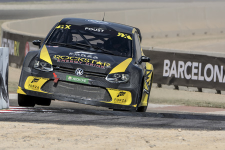 fia: Tanner FOUST. Volkswagen Polo. Barcelona FIA World Rallycross Championship. Montmelo, Spain. September 19, 2015