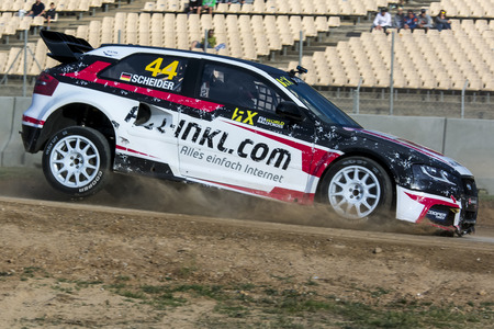 fia: Timo SCHEIDER. Audi S3. Barcelona FIA World Rallycross Championship. Montmelo, Spain. September 20, 2015