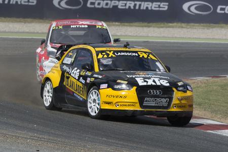 fia: Robin LARSSON. Audi A1. Barcelona FIA World Rallycross Championship. Montmelo, Spain. September 19, 2015
