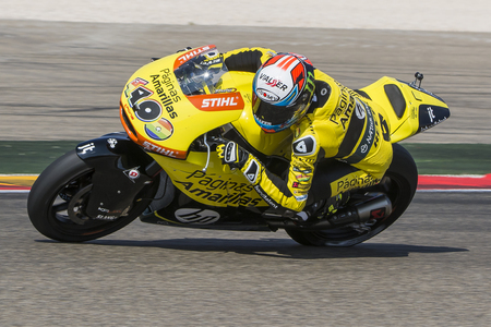 rins: Alex RINS. Paginas Amarillas Team. Grand Prix Movistar of Aragón of MotoGP. Aragon, Spain. 27th September 2015 Editorial