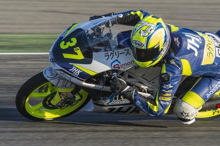 moto gp: Davide PIZZOLI. Moto3. Grand Prix Movistar of Aragón of MotoGP. Aragon, Spain. 27th September 2015 Editorial