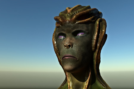 3d alien portrait
