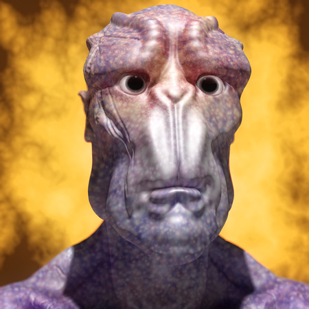 starship: 3d alien portrait