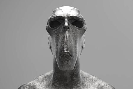 3d alien portrait
