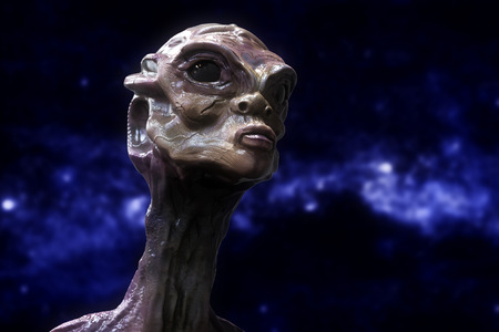 fantasy alien: Alien portrait