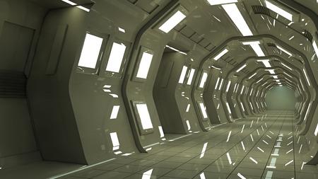 futuristic interior: Futuristic SCIFI corridor interior