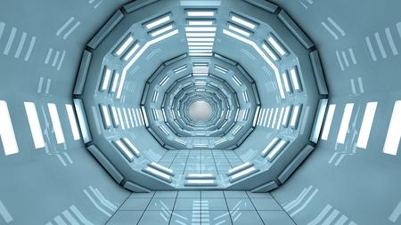 Futuristic SCIFI corridor interior