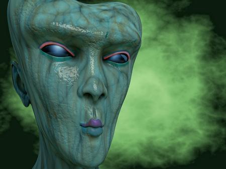 haunting: Alien SCIFI portrait