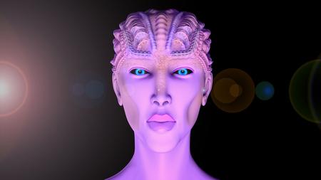 abduction: Alien SCIFI portrait